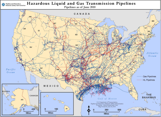 map of transmission pipelines in usa